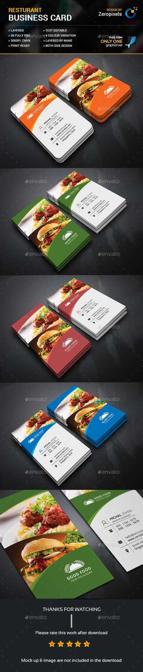 Restaurant Business Card Psd Template by Restaurant Business Card Template Psd Here