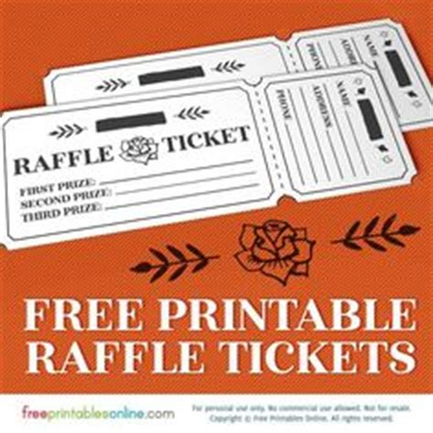printable tickets with tear away stubs printable blank raffle tickets free raffle ticket