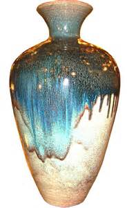 monumental decorative glazed pottery vase modernism