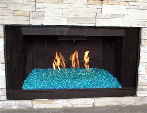 Glass Fireplace Rocks by Fireplace Glass San Diego