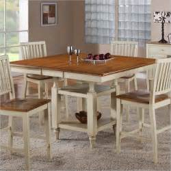 Dining Room Tables With Built In Leaves Steve Silver Company Candice Counter Dining Table With Butterfly Leaf In Oak And Traditional
