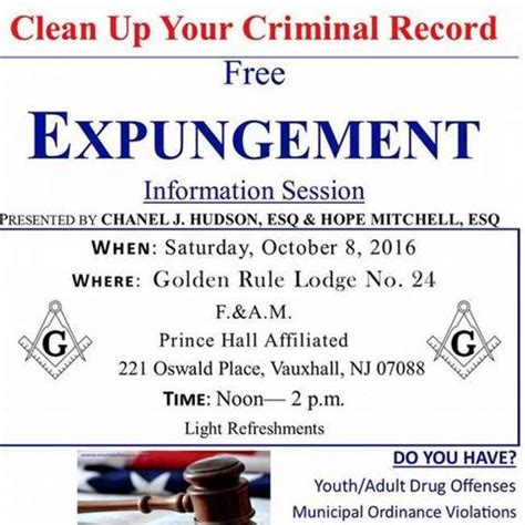 Expunge Criminal Record Nj Golden Rule Lodge To Host Informational Session On