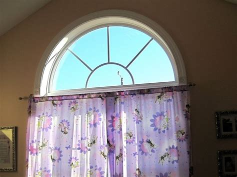 half circle window coverings half circle window treatment diy craft projects