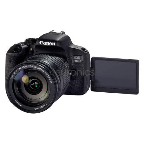 dslr canon dslr canon eos 800d 18 200 mm lens 1895c031