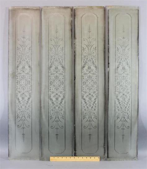 doors ed011 victorian 4 panel etched glass door with 4 antique victorian 19thc architectural etched glass door