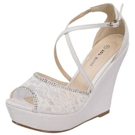 White Lace Wedding Wedges by Wedding Wedge Shoes Of Interesting Wedding Shoes Shoes