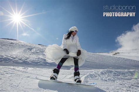 sulla neve foto sulla neve con l abito da sposa 1 di 11 firenze