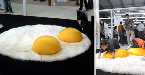 fried egg rug cool rugs wasabi