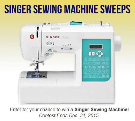 Sewing Machine Giveaway 2015 - enter to win a singer sewing machine the frugal free gal