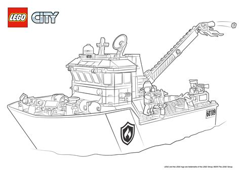 coloring page lego city fire boat colouring page lego 174 city activities city