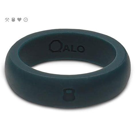 Wedding Ring Qalo by Qalo Slicone Wedding Ring Classic Womens Slate Grey At