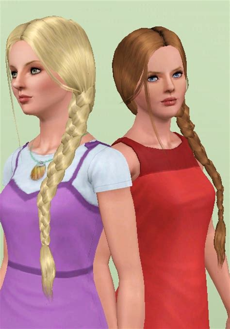 hfs braided hair sims 3 mod the sims nouk side braid conversion all ages