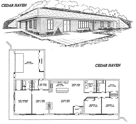 earth shelter underground floor plans earth berm eco home designs pinterest