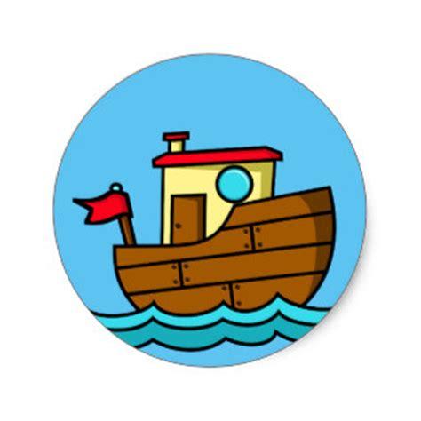 little cartoon boat cartoon boat stickers zazzle