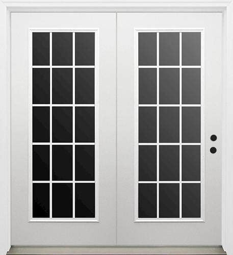 Mastercraft Patio Doors Mastercraft I 9 Primed Steel 72 Quot X 80 Quot Low E 15 Lite Center Hinge Patio Door W Int Grilles At