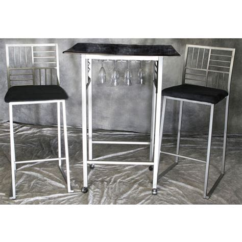kitchen table sets with matching bar stools dining sets black faux marble table w nickel base and