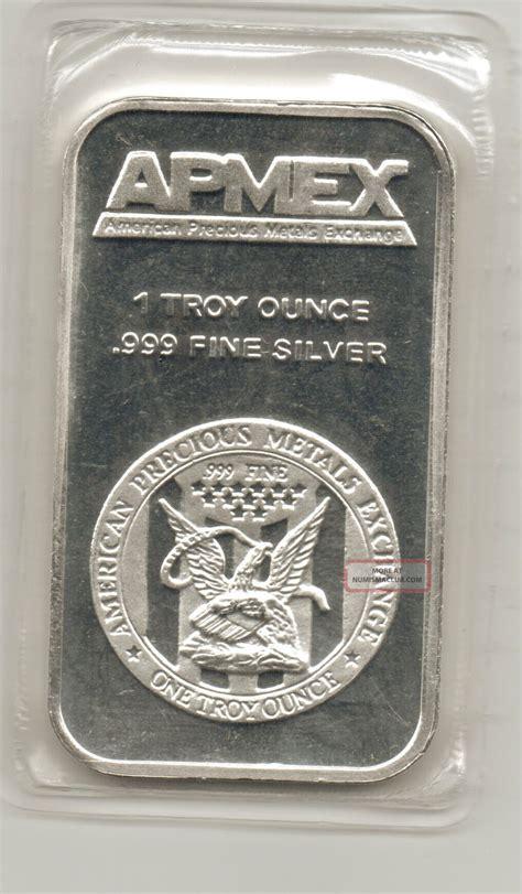 1 oz apmex silver bar 999 apmex traditional silver bar 1 troy oz 999 silver bar