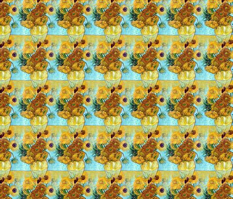 vincent gogh vase with twelve sunflowers vincent gogh vase with twelve sunflowers 1889 fabric