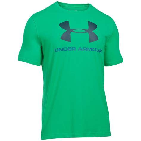 T Shirt Kaos Armour Logo armour 2017 mens charged cotton sportstyle logo t shirt ebay