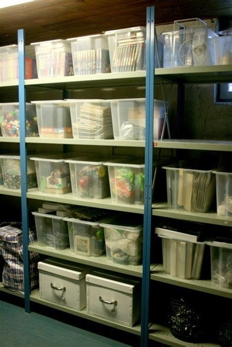 basement organization scrapbook room organizing ideas