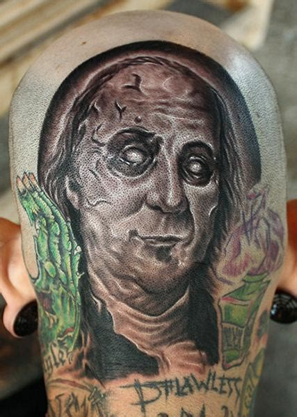 benjamin franklin tattoo ben franklin by daniel chashoudian tattoonow