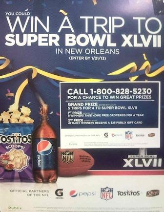 Super Bowl 51 Sweepstakes - publix sweepstakes win a trip to super bowl xlvii