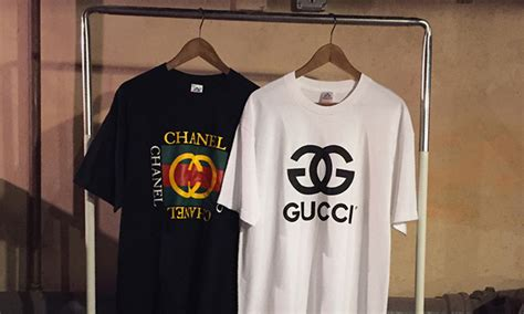 Tshirt Baju Nike Elite gucci chanel s logos get mashed up in these t shirts