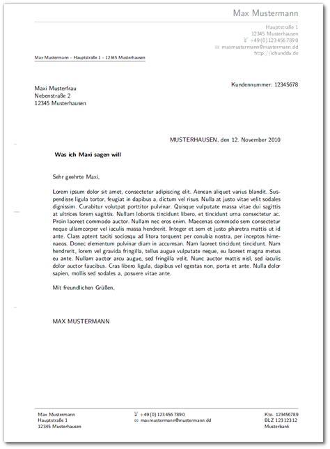 Deutschland Brief Beispiel Vorlagen F 252 R Briefe Und Rechnung Meinnoteblog S