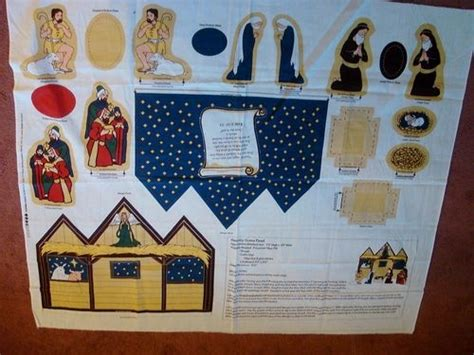 pattern for fabric nativity scene fabric panel christmas just cut sew manger nativity