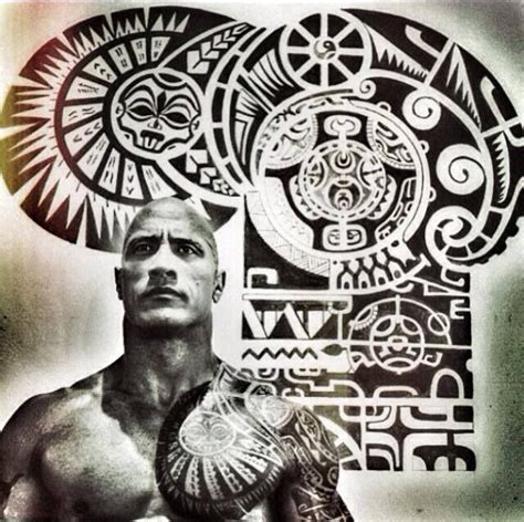the rock tattoo the rock s tattoos beautiful find your warrior mana