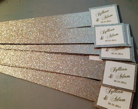 Wedding Invitations Belly Band by Items Similar To Glitter Belly Bands For Wedding