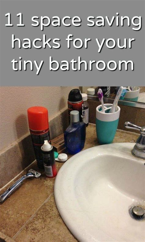 space saving hacks   tiny bathroom home decor