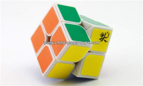 Promo Termurah Rubik Yj 2x2x2 2x2 2 Layer Speed Cube White Base dayan v zhanchi 50mm 2x2x2 magic cube white assembled rubix cube solve rubiks cube puzzle