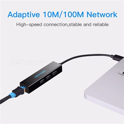 Usb 20 Ethernet Adapter 1001000 Mbps White Speed vention portable 3 port usb 2 0 to rj45 lan 10 100 mbps network card ethernet adapter usb