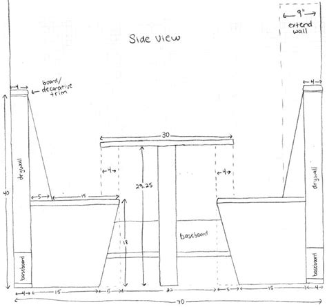 Dimensions For Banquette Seating much space between seat and table this could be helpful in planning need to howkitchen