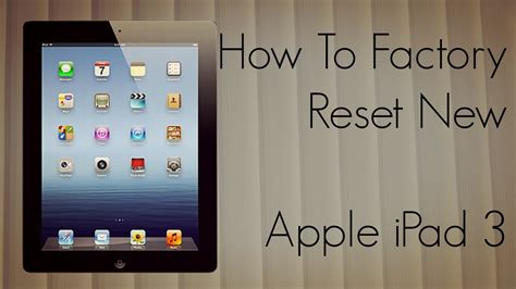 reset vivosmart 3 to factory settings how to factory reset new apple ipad 3 to default settings