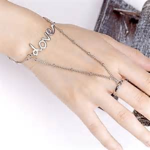 Fancy girl hand jewelry bracelet for party prom and casual wear
