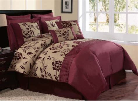 maroon and gold comforter set victoria classics aurora 8 piece queen comforter set