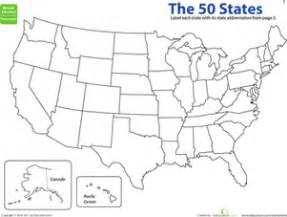 united states map third grade map the states state abbreviations worksheet