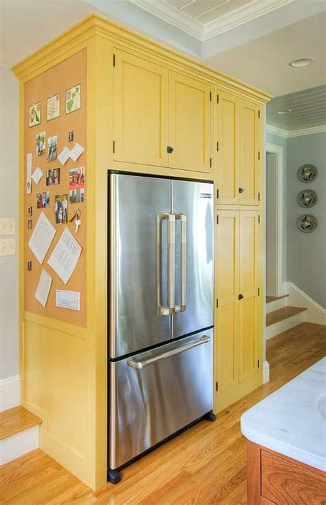kitchen refrigerator cabinet 25 best ideas about refrigerator cabinet on pinterest