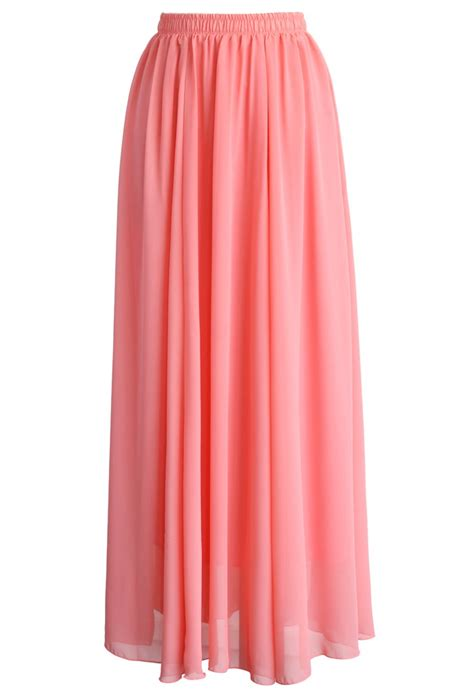 pink maxi skirt dress ala