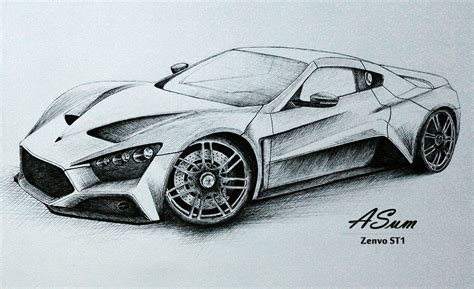 supercar drawing drawing with eraser