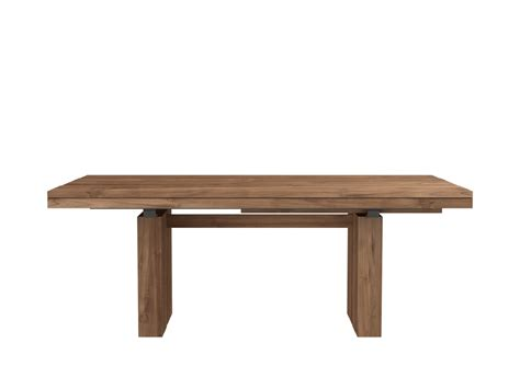 teak extendable dining table 200 300 100 76