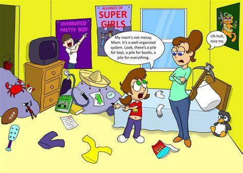 messy bedroom cartoon messy room by earthvsthederek on deviantart