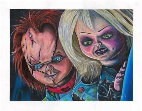 download film chucky lengkap mixed media drawing of chucky and tiffany from bride of
