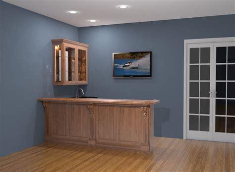 Home bar design rendering nick miller design