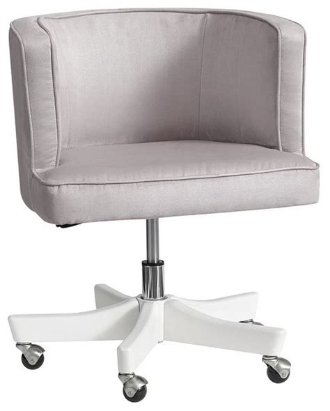 scoop swivel desk chair light gray contemporary
