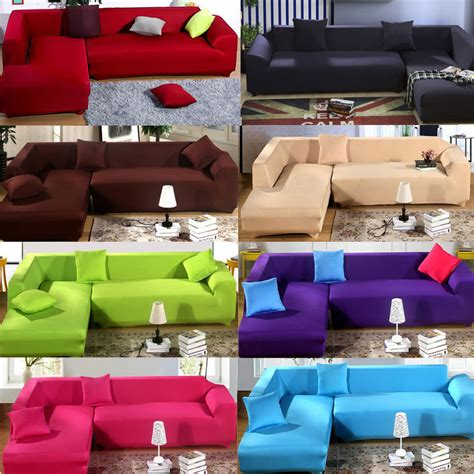 covering a sectional couch fashion l shape stretch elastic fabric sofa cover