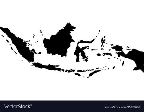 map  indonesia royalty  vector image vectorstock