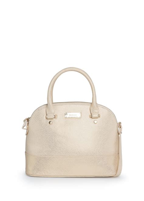 lyst mango touch saffiano effect tote bag in